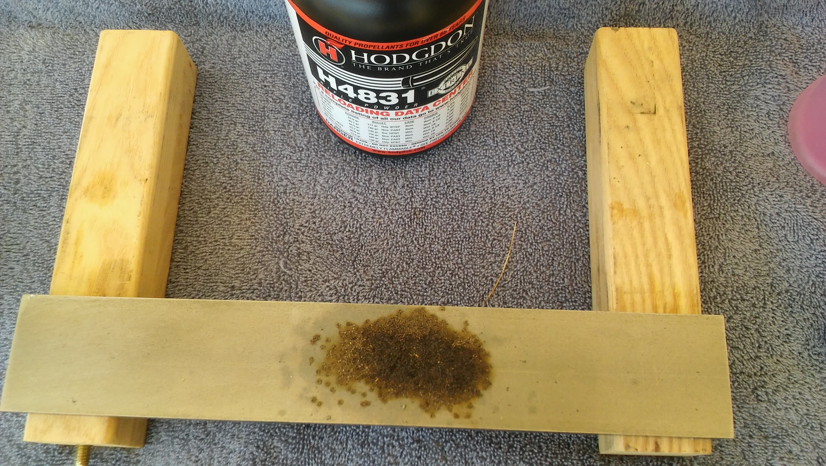 gun cleaner test - burnt powder