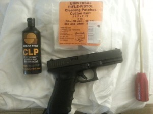 Using breakfree clp on my glock 22