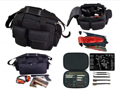 S&W M&P TekMat & Black Readi Range Bag & Warrior 21pc Cleaning Kit